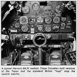 A Typical Harvard Mk.IV cockpit
